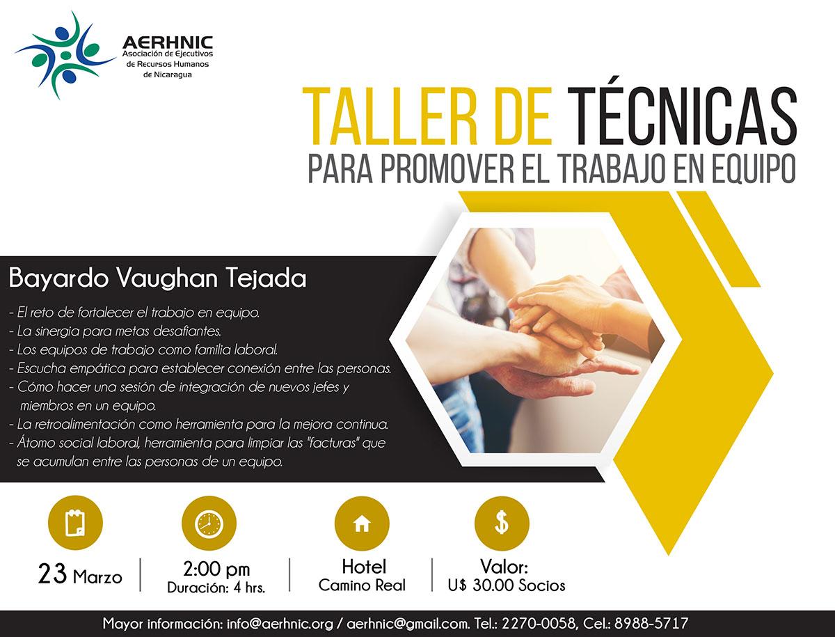 Taller de Técnicas para promover el Trabajo en Equipo
