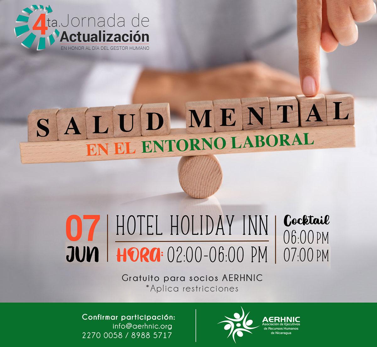 4t Jornada de Actualización - Salud Mental en el Entorno Laboral