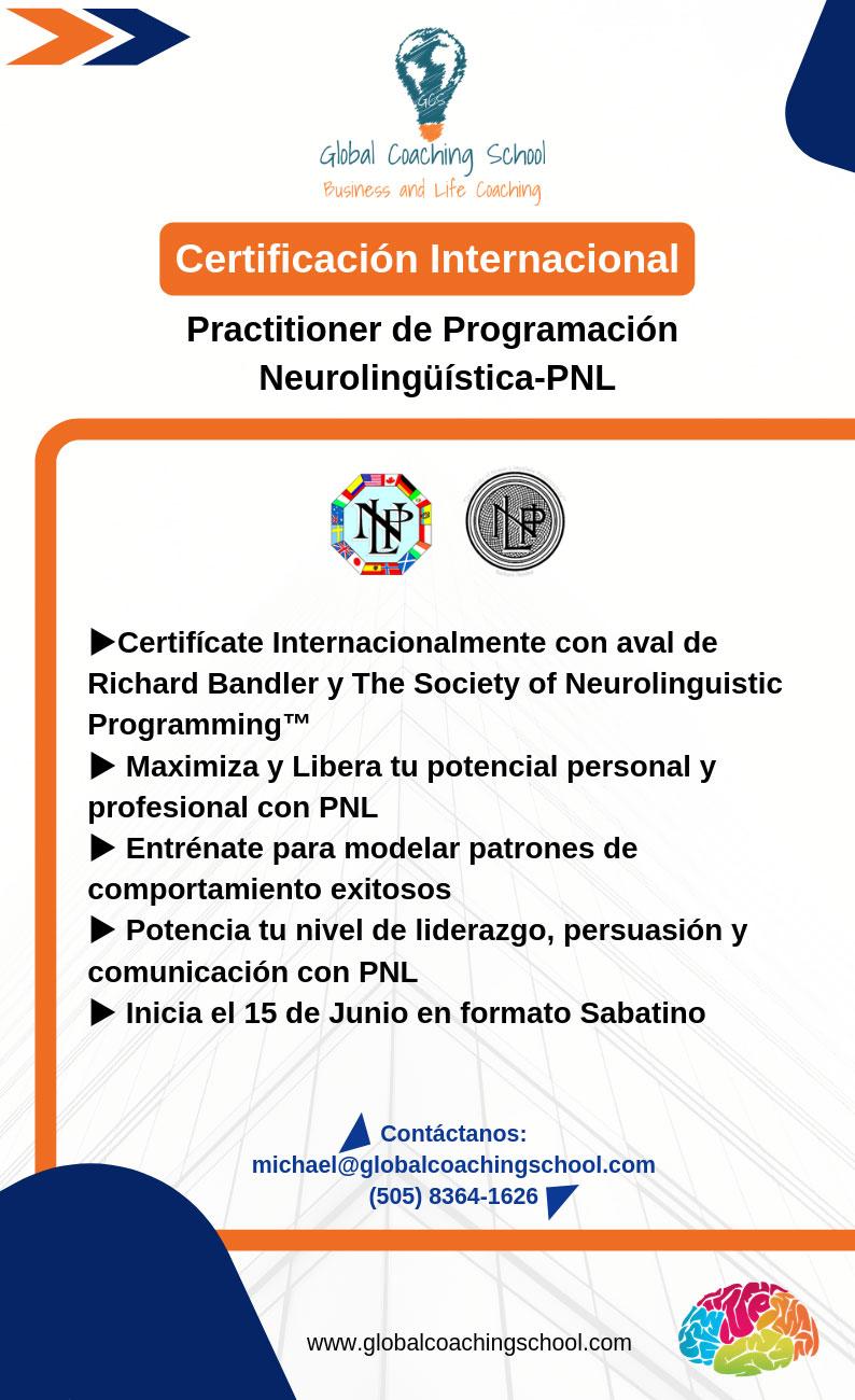Certificación Internacional - Practicioner de Programación Neurolingüística