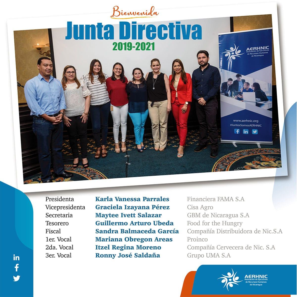 Junta Directiva AERHNIC 2019-2021